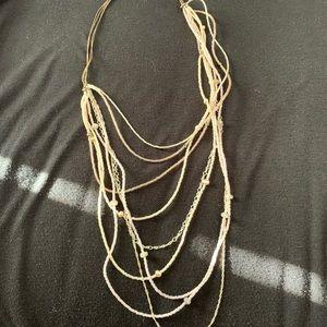 Multi strand rose gold necklace
